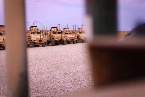 Combat machine at Combat Outpost Shocker