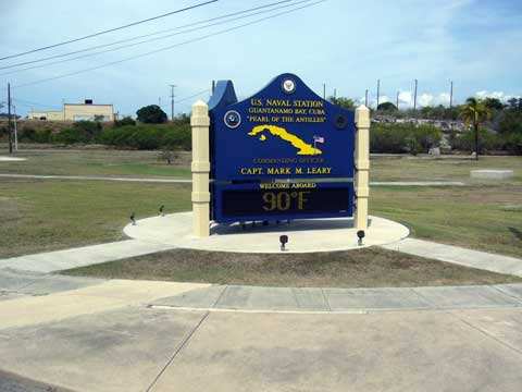 Main sign of Guantanamo Bay Naval Base