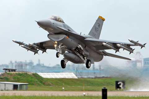 Plane launch at Kadena Air Base