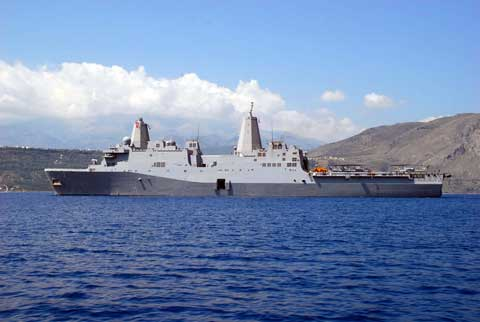 Ship at Naval Support Activity Souda Bay