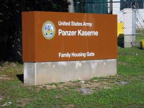 Panzer Kaserne Sign