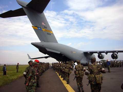 Plane at Ramstein Air Base