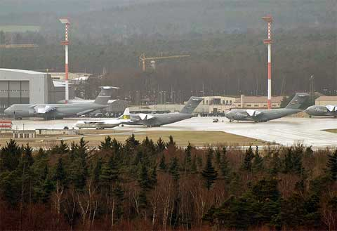 Areal view of Ramstein Air Base