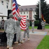 Retreat Retirement at Panzer Kaserne Marine Base