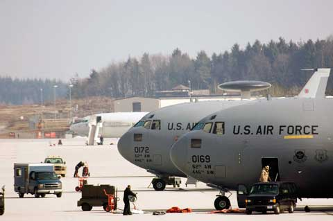 C-17 planes at Spangdahlem Air Base