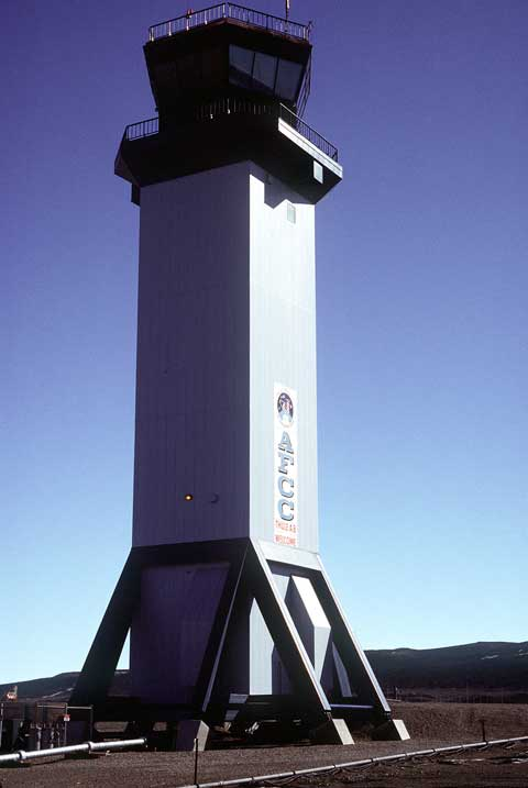 Main control tower at Thule Air Base