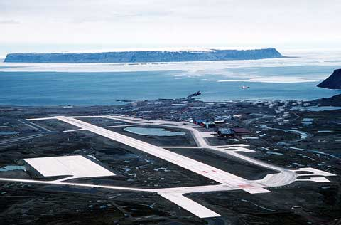 Areal view of Thule Air Base
