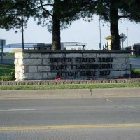 Sign of Fort Leavenworth
