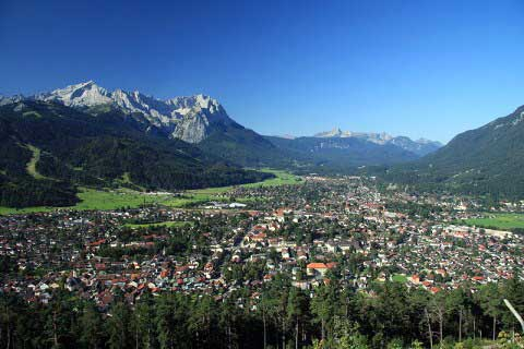 Areal view of USAG Garmisch