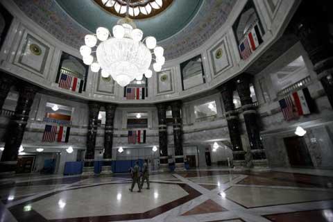 Royal interior at Victory Base Complex