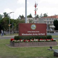 Sign of Wiesbaden Army Airfield