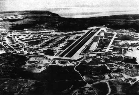 Historucal Areal view of Yontan Airfield