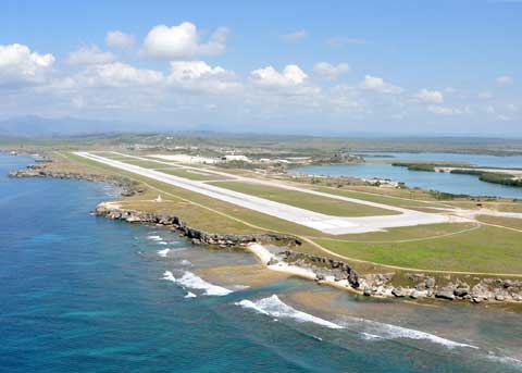 Areal view of Guantanamo Bay Naval Base