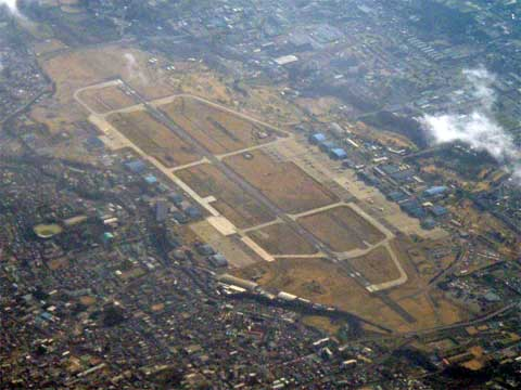 Areal view of Naval Air Facility Atsugi