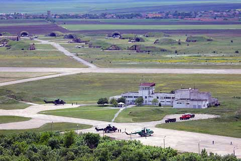 Areal view of Bezmer Air Force Base