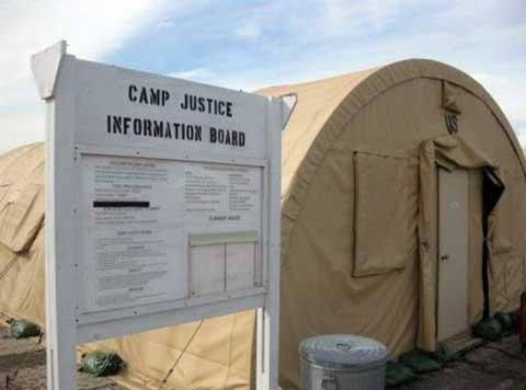 Tent at camp Justice Iraq