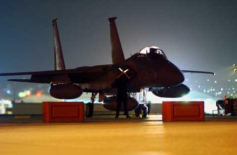 Kadena Air Base - F15 military plane