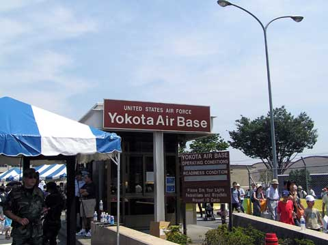 Sign of Yokota Air Base