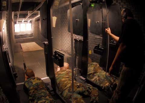 Shooting practice inside Commander Fleet Activities Chinhae
