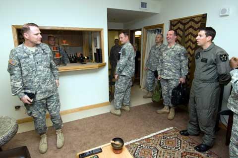 Soldiers inside K-16 Air Base