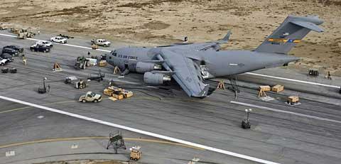 Transport plane at Riyadh Air Base