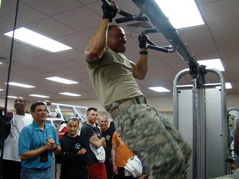 Soldiers training at USAG Daegu