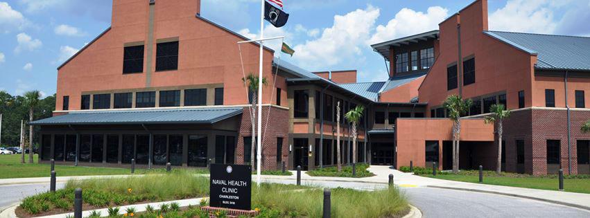 Naval Health Clinic Charleston areal view