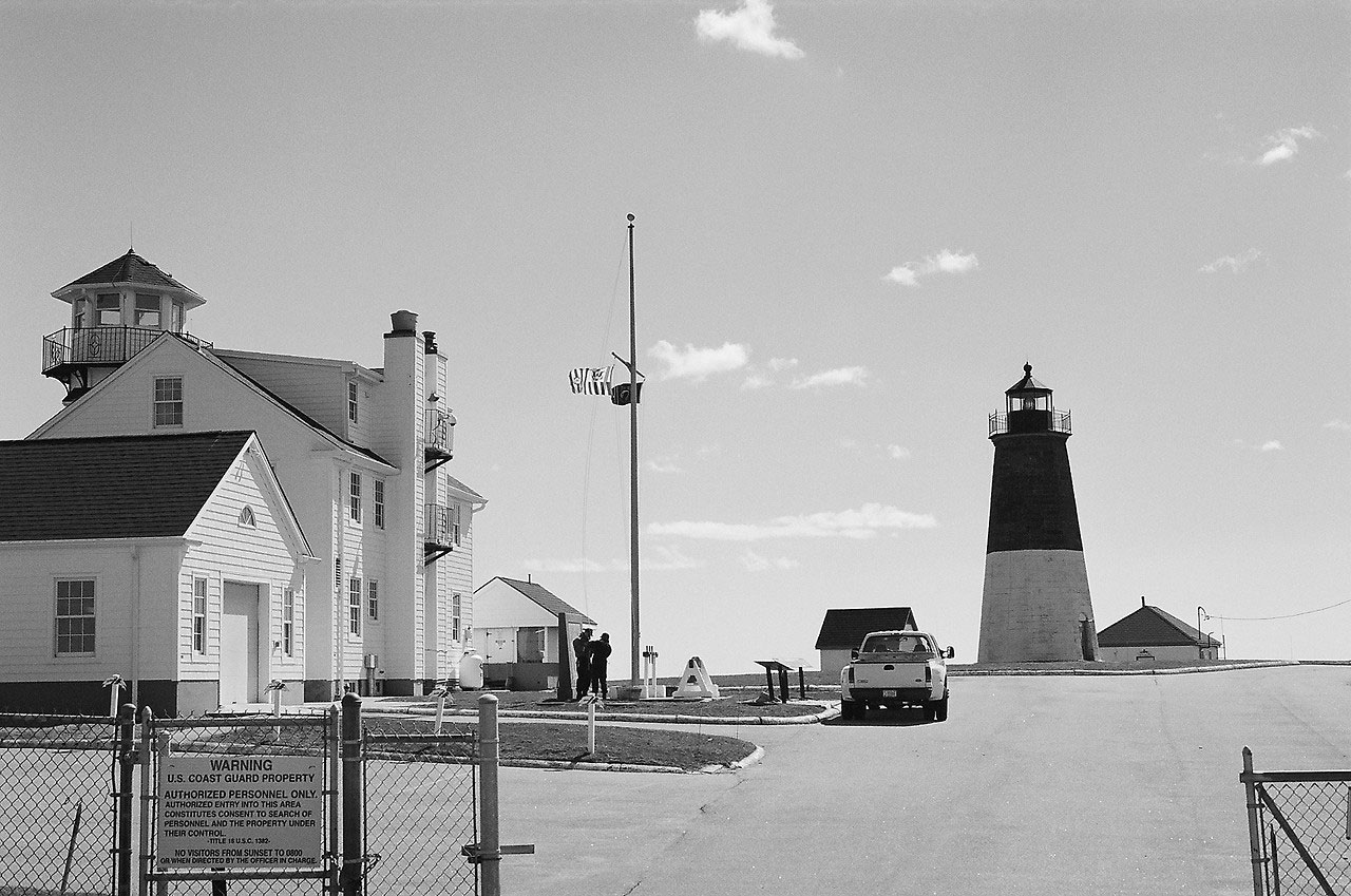 USCG Station Point Judith - B&W
